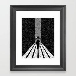 Winter's Long Road Framed Art Print