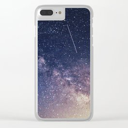 Milky Way and A Shooting Star Clear iPhone Case