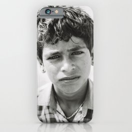 Black and White Portrait of Indian Boy in Jaisalmer, Rajasthan, India | Travel Photography | iPhone Case