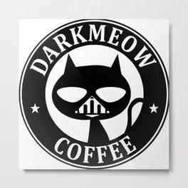 Darkmeow coffee Metal Print
