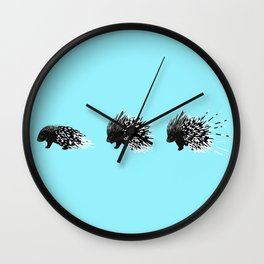Crested Porcupine Wall Clock