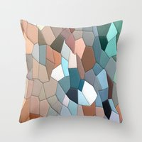 mosaic Throw Pillows featuring mosaic  by  Agostino Lo Coco