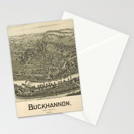 Aerial View of Buckhannon, West Virginia (1900) Stationery Cards