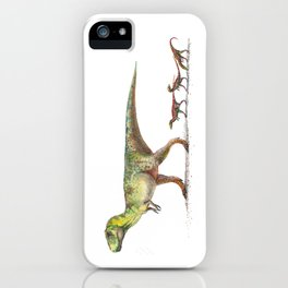 Mom T-Rex with Babies iPhone Case