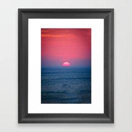 A Perfect Sunset Framed Art Print