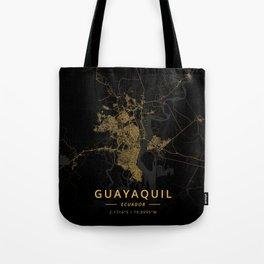 Guayaquil, Ecuador - Gold Tote Bag