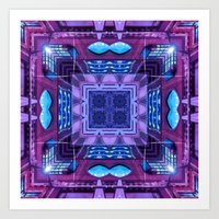 Purple Neon Art Print