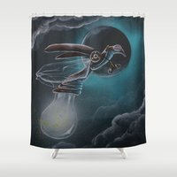 firefly Shower Curtains featuring steampunk firefly by Annelies202