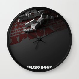 Chato Font poster Wall Clock