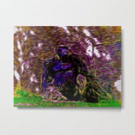 Gorilla Inspired Art 1 Metal Print