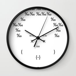 The Only Text Series - Fofo Wall Clock