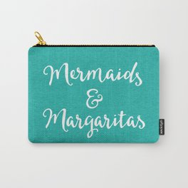 Mermaids & Margaritas Funny Quote Carry-All Pouch