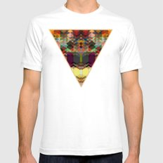 Triangle affair Mens Fitted Tee SMALL White