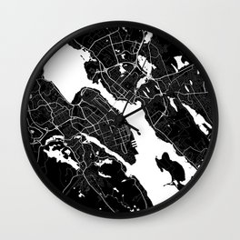 Halifax - Minimalist City Map Wall Clock