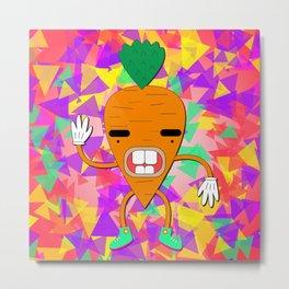 Psychedelic Carrot Bro Metal Print