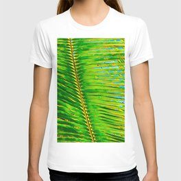 Coconut Frond in Green Aloha T-shirt