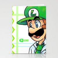 luigi Stationery Cards featuring Dr. Luigi by Kirafrog
