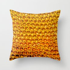 honey comb Throw Pillow