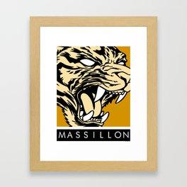 MASSILLON TIGER Framed Art Print
