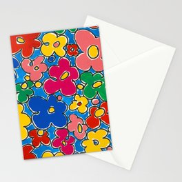 Free Form Funky Flowers by Nettwork2Design - Nettie Heron-Middleton Stationery Cards
