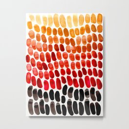 Red Orange Yellow Gradient Natural Patterns Colorful Watercolor Abstract Art Mid Century Modern Art Metal Print