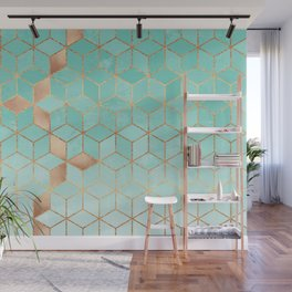 Soft Gradient Aquamarine Wall Mural