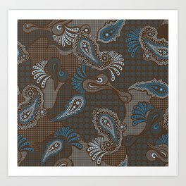 paisley DECO syndrone Art Print