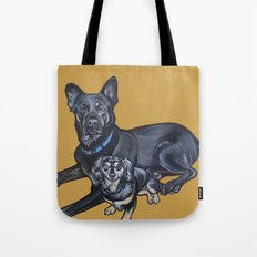 Lincoln and Zelda Tote Bag