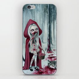 Little dead riding hood iPhone Skin