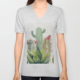 Cactus Watercolor Unisex V-Neck