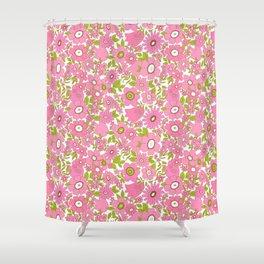 vintage pink 1 Shower Curtain