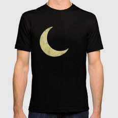 To the Moon Black SMALL Mens Fitted Tee