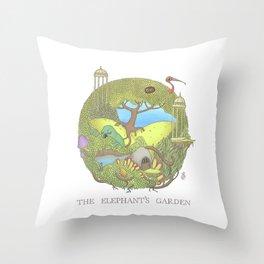 The Elephant's Garden - Version 1 Throw Pillow