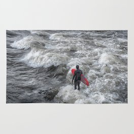 River Surfing Rug
