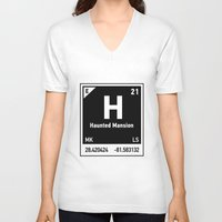 haunted mansion V-neck T-shirts featuring elements of H (Haunted Mansion) by designoMatt