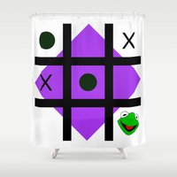 kermit Shower Curtains featuring Kermit der frosch by some guy named christian