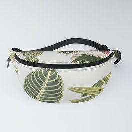 Botanical Green Plants Watercolor Painting Fanny Pack
