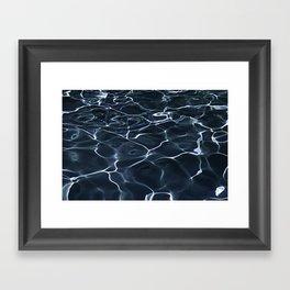 DARK BLUE -  WATER Framed Art Print