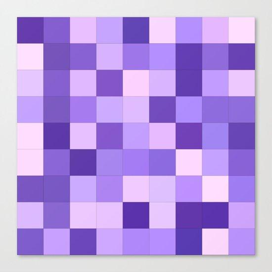 Pastel purple squares Canvas Print