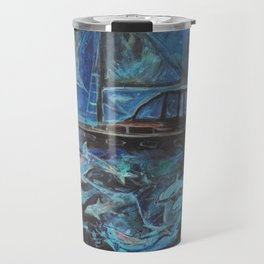 Sailing on the Neil James at night Travel Mug