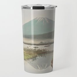 Mount Fuji as Seen from Kashiwabara, hand–colored albumen silver print from Japan Travel Mug