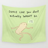 motivation Wall Tapestries featuring Dance Motivation by Sophie Corrigan