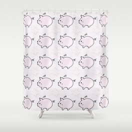 OINK Shower Curtain