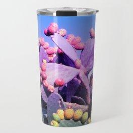 Sweet Rainbow Tropical Cactus #tropicalart #decor Travel Mug