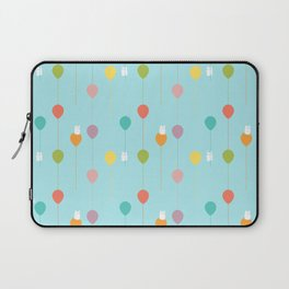 Fluffy bunnies and the rainbow balloons pattern Laptop Sleeve