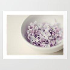 Bowl of Lilacs Art Print