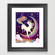 Let's Be Frank About Unicorns Framed Art Print