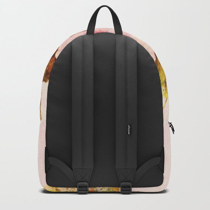 pink pansies Backpack