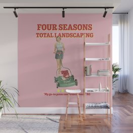 Four Seasons Total Landscaping (Pink) Wall Mural