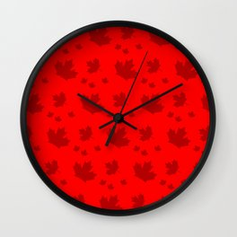 Canada Maple Leaf-Large-Red Wall Clock